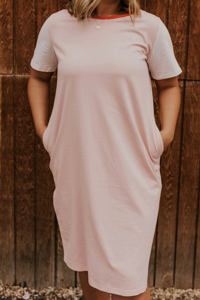 Pink Tee Shirt Dress | ROOLEE