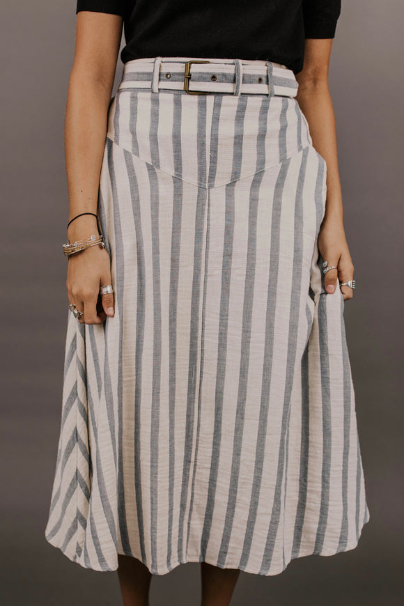 Asher Stripe Skirt | ROOLEE