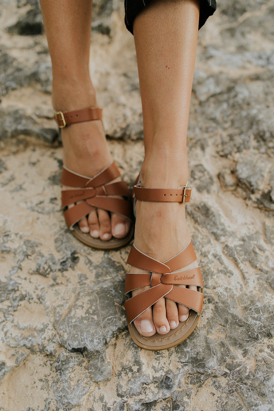 0d35e61c497ad Summer Sandals - Leather Strap Sandals