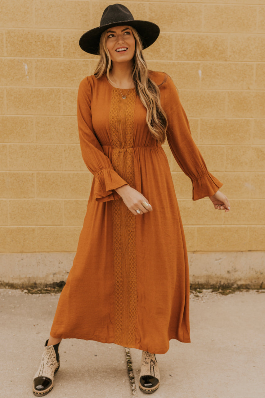 Long Sleeve Orange Dresses | ROOLEE