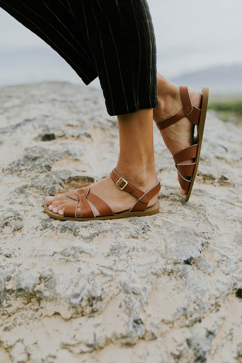 Tan Leather Sandals | ROOLEE