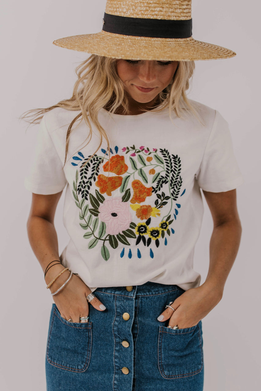Floral Embroidery Top | ROOLEE