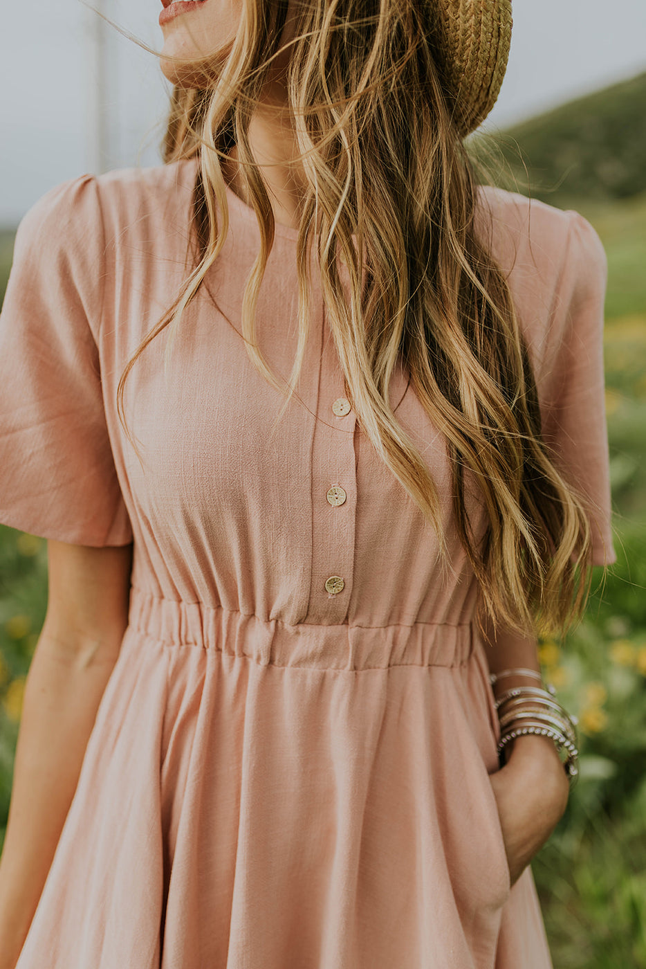 Modest Blush Dress for Women | ROOLEE