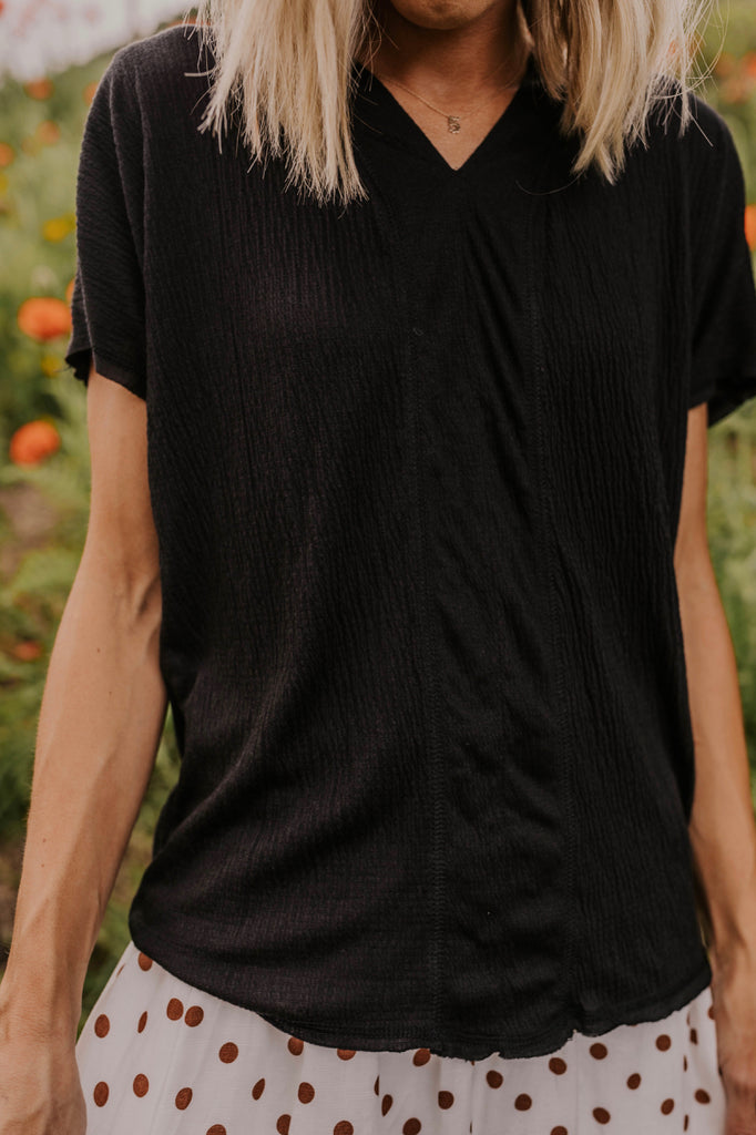 Simple Black Top for Summer | ROOLEE