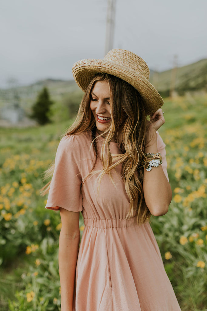 Short Sleeve Button Up Dress | ROOLEE