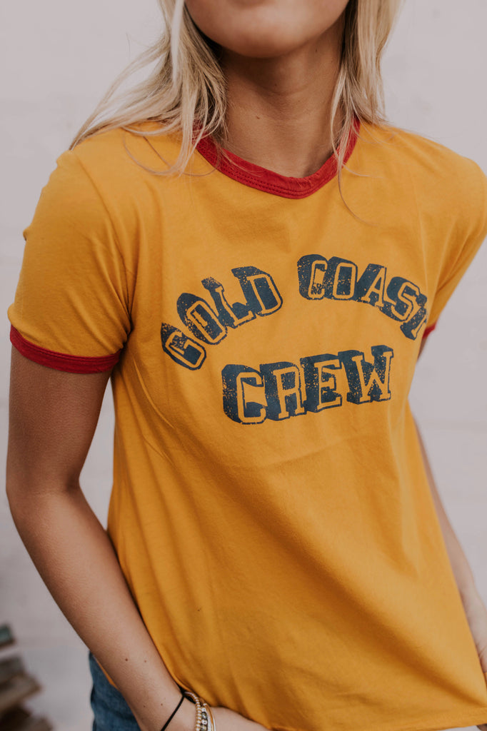 Gold Coast Crew Printed T-Shirt | ROOLEE
