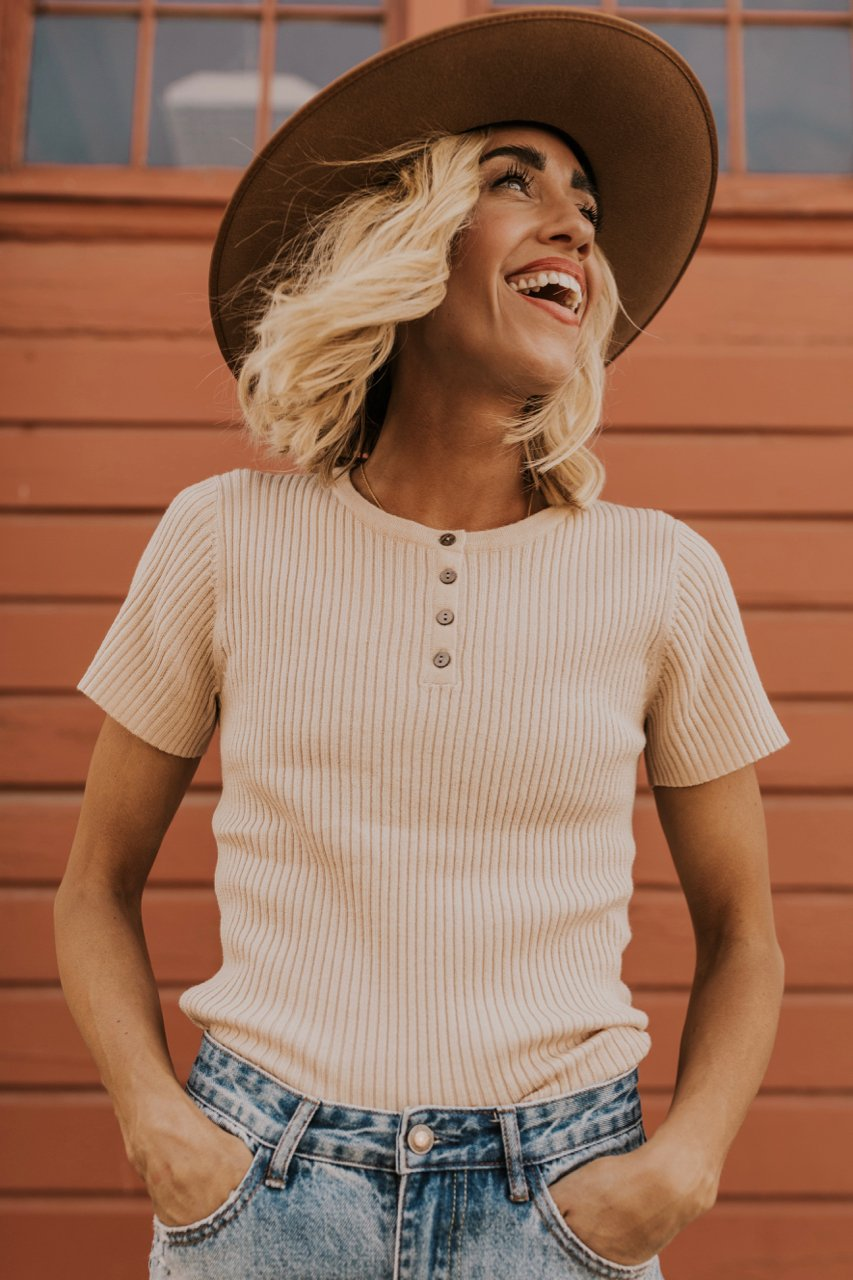 Buttoned Front Top | ROOLEE