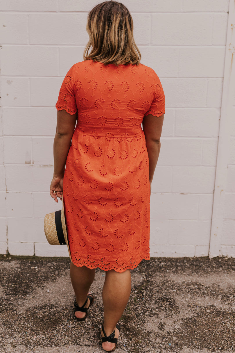 Modest Eyelet Detail Dress | ROOLEE
