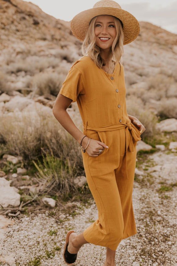 Mustard Jumpsuits for Summer 2019 | ROOLEE