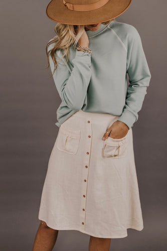 Button Skirt Outfit Ideas | ROOLEE Skirts