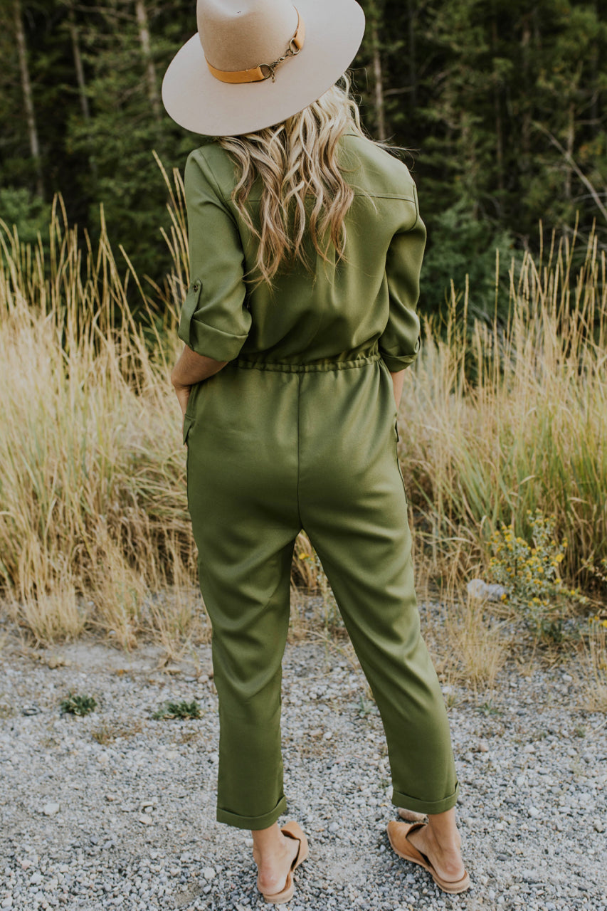 Olive Jumpsuit Outfit | ROOLEE