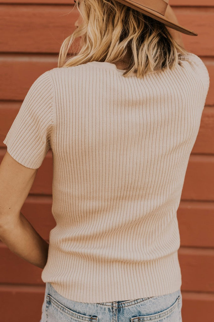 Short Sleeve Ribbed Top | ROOLEE