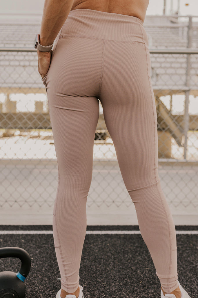 Almond Athletic Leggings | ROOLEE
