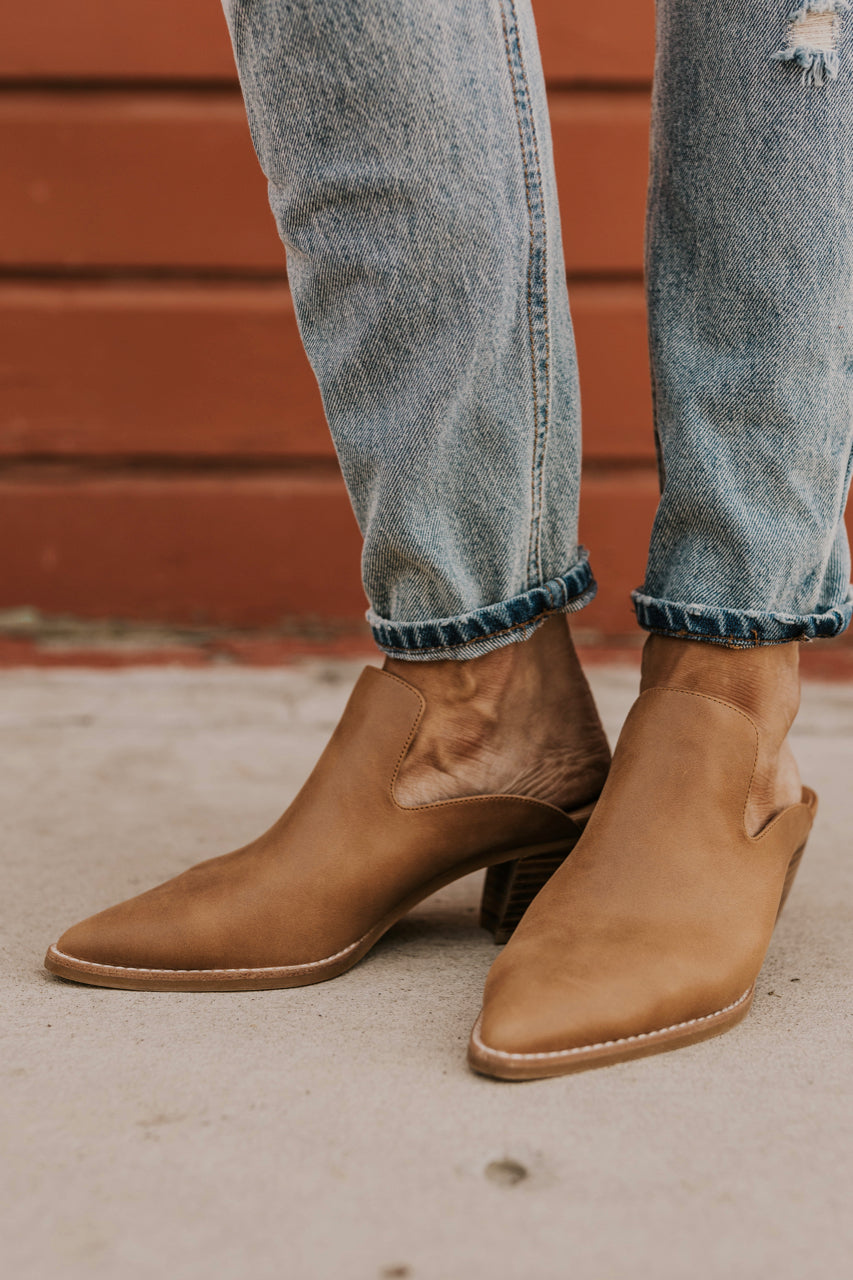 Brown Leather Mule | ROOLEE