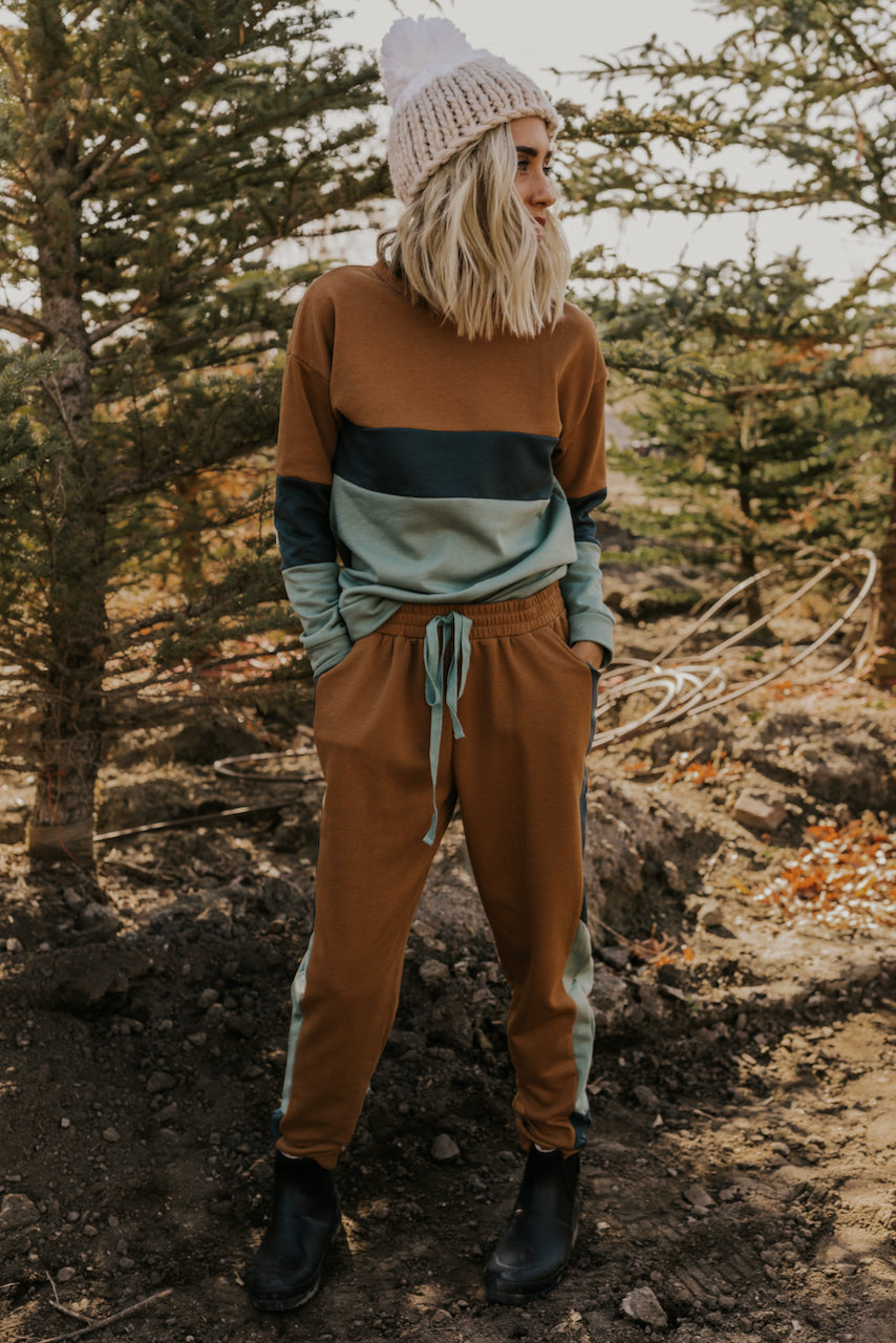 Sage and Camel Sweater Set | ROOLEE