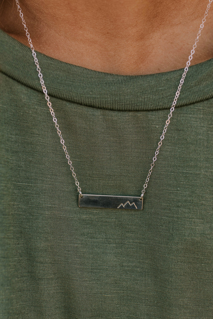 Mountain Bar Necklace | ROOLEE
