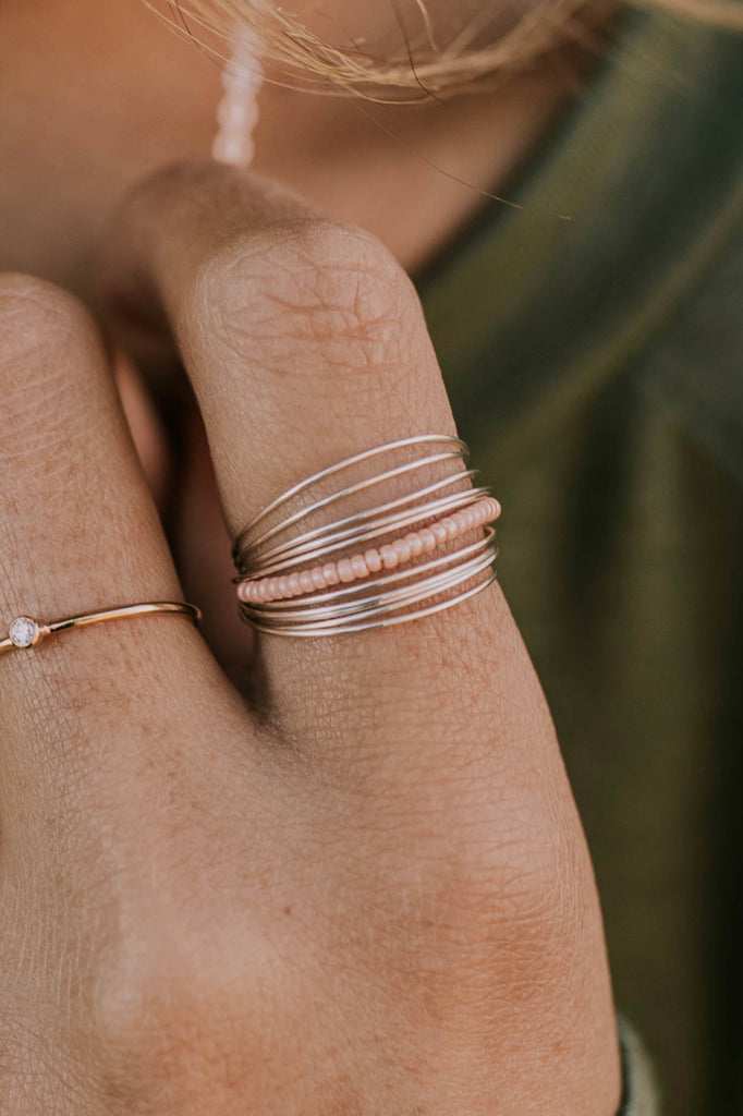 Stacked Rings with Beads | ROOLEE