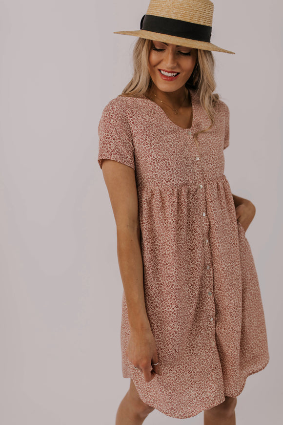 Floral Button Dress | ROOLEE
