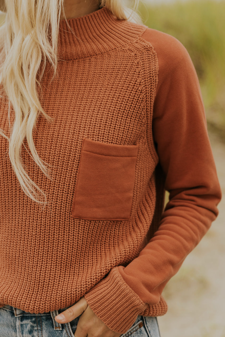 Turtleneck textured pullover | ROOLEE