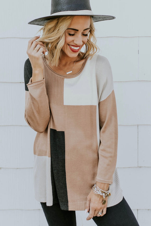 Colorblock Sweater Outfits For Women | ROOLEE Tops