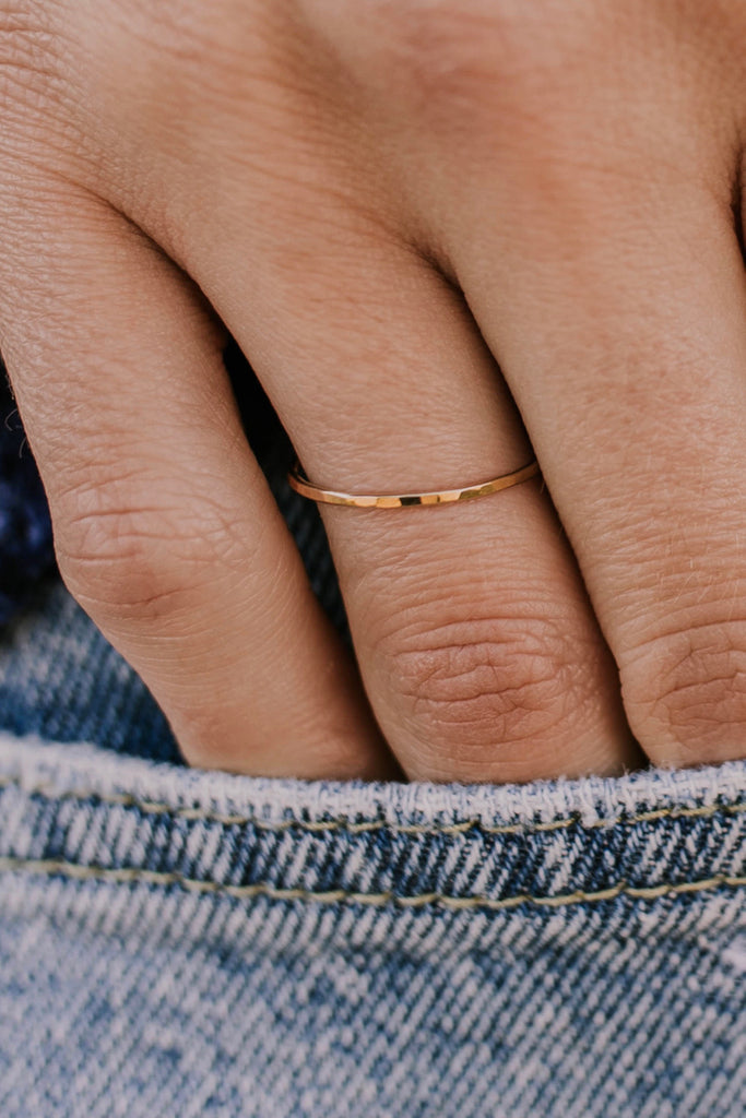 Stackable Gold Ring | ROOLEE