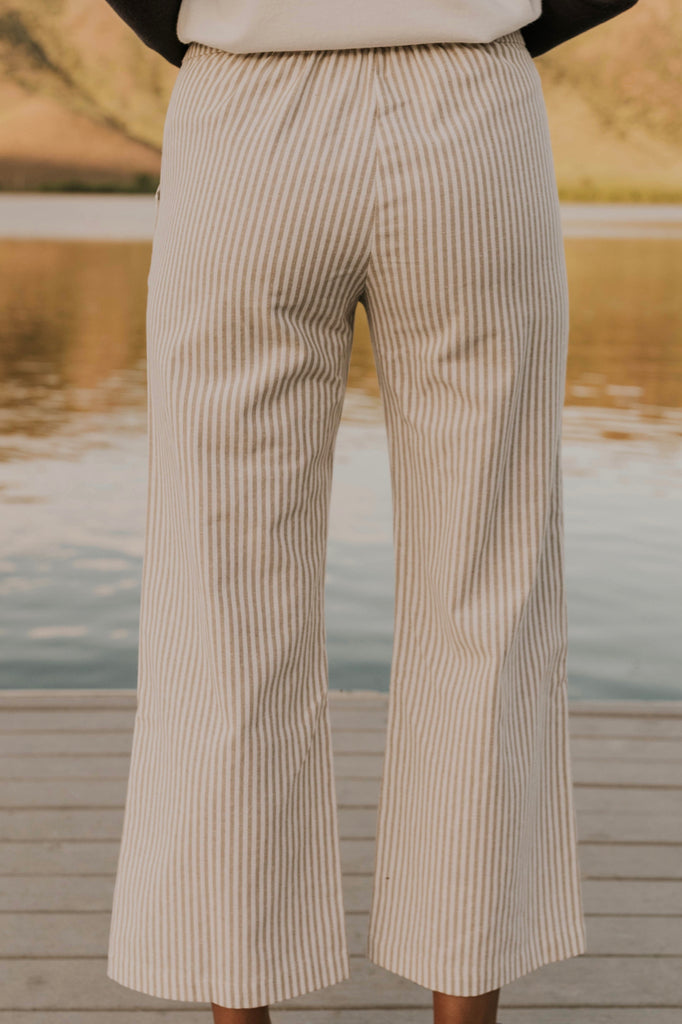 Wide Leg Stripe Pants | ROOLEE