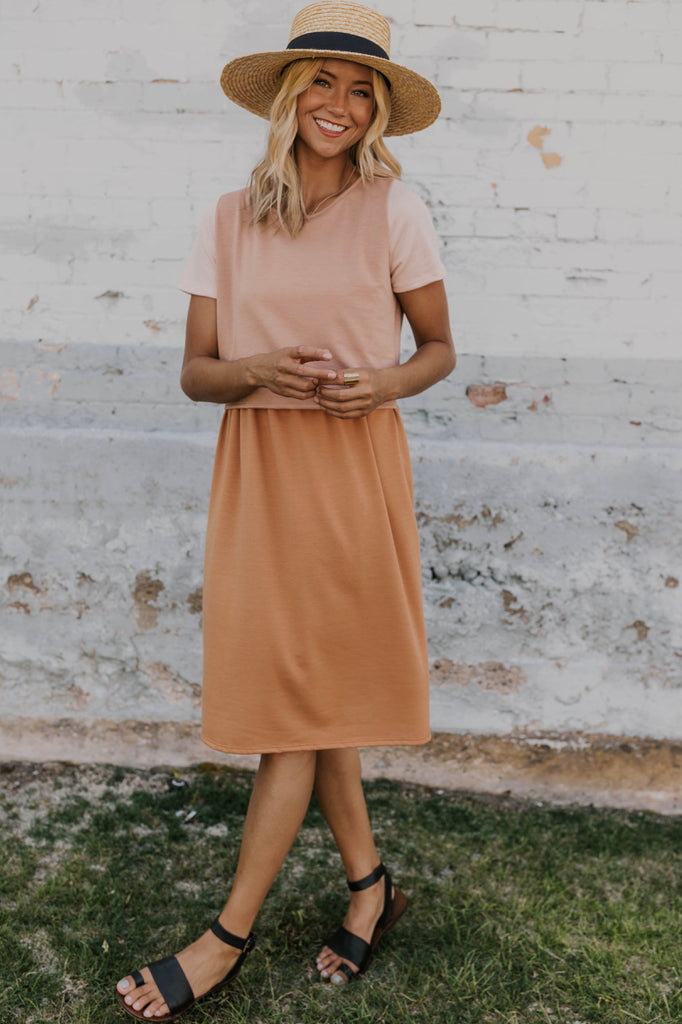 Cute Colorblock MOM Dress | ROOLEE