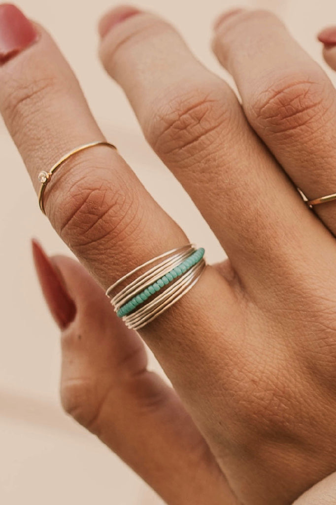 Stacked Ring with Beads | ROOLEE