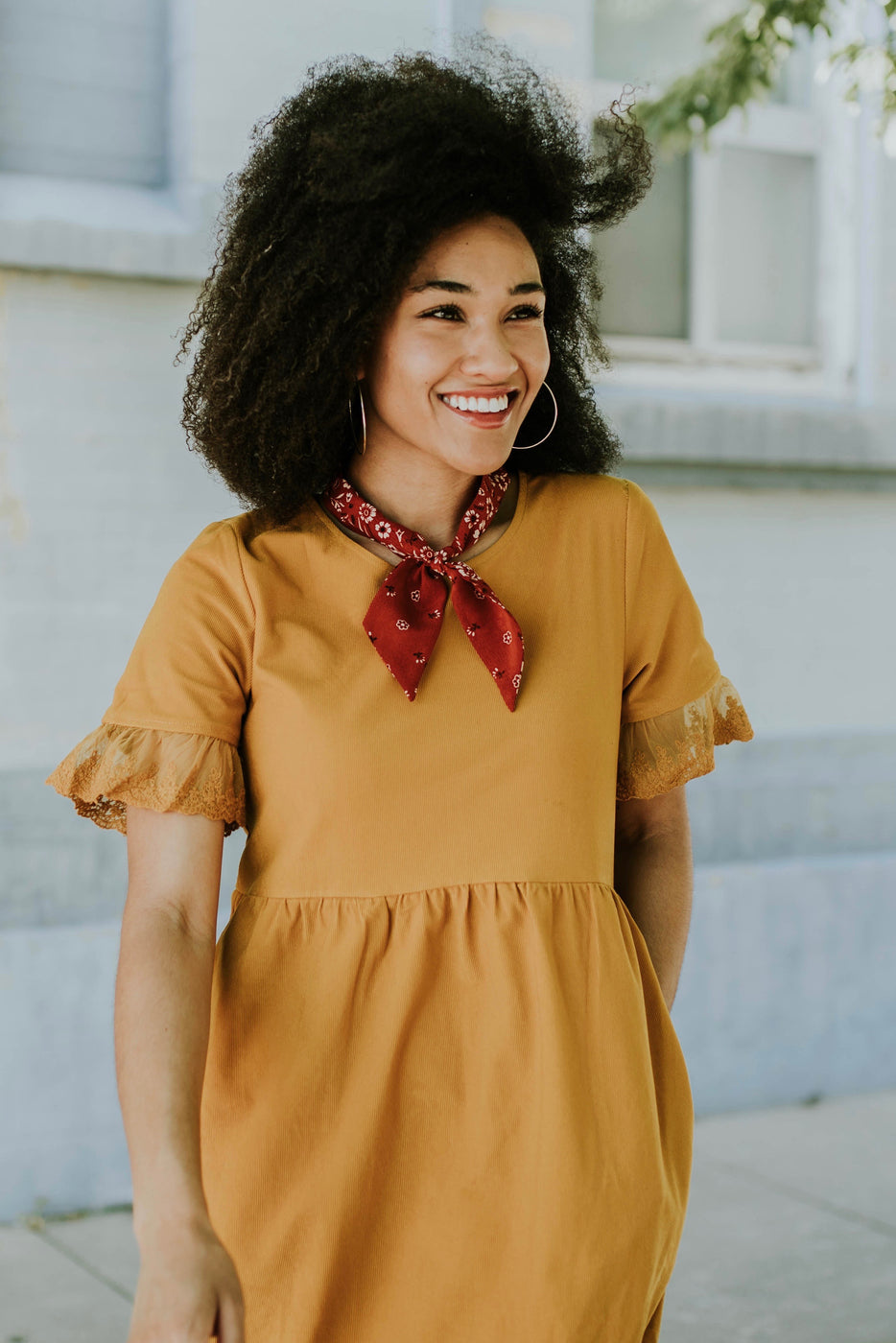 Lightweight Mustard Dress For Women | ROOLEE