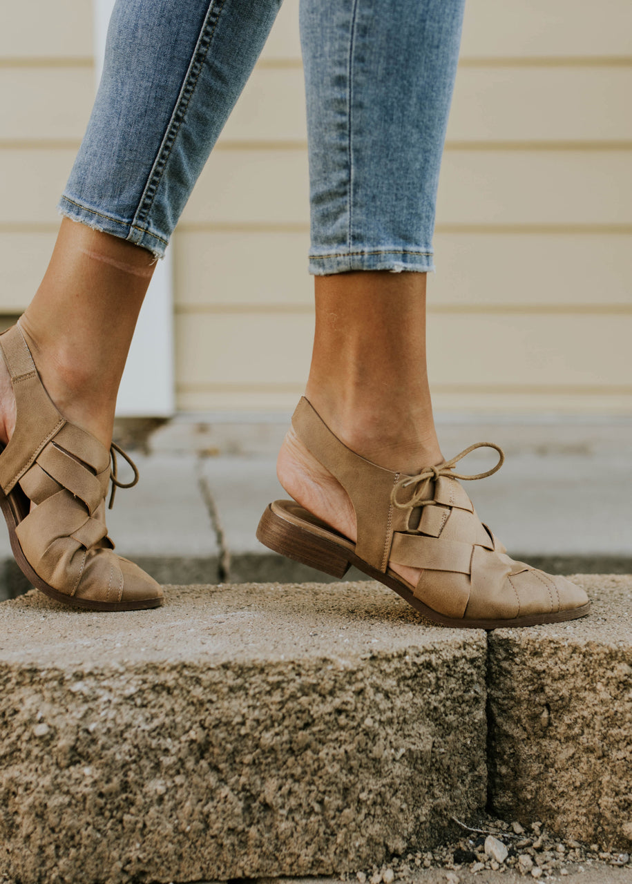 Woven Faux Leather Flats | ROOLEE