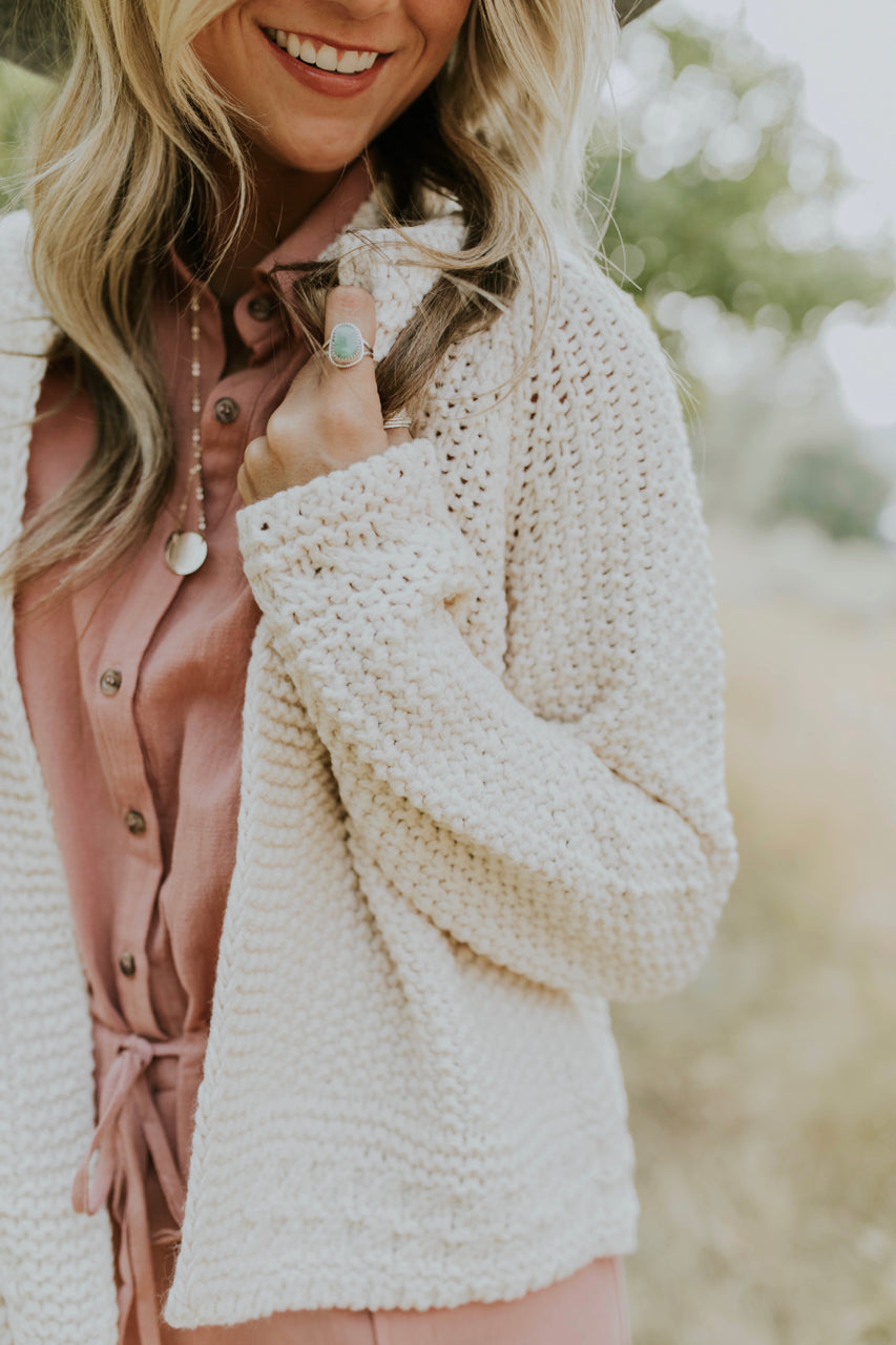 Cream Cardigan Outfits | ROOLEE