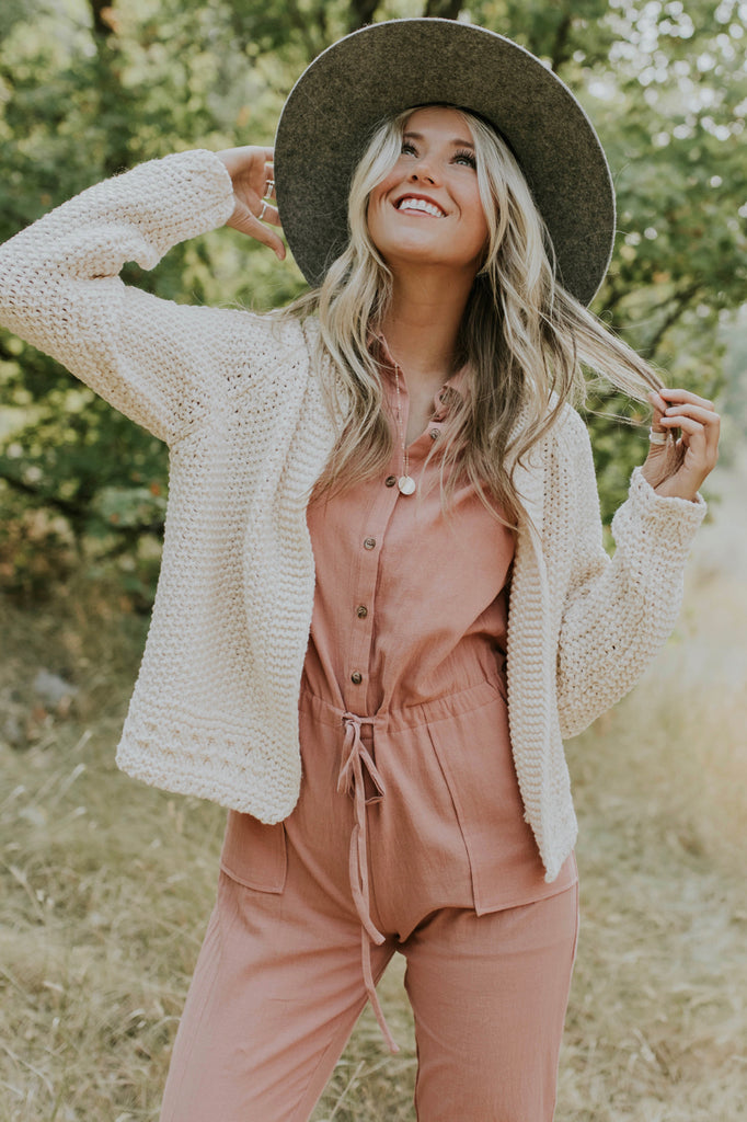 Long Sleeve Knit Sweater Cardigan | ROOLEE