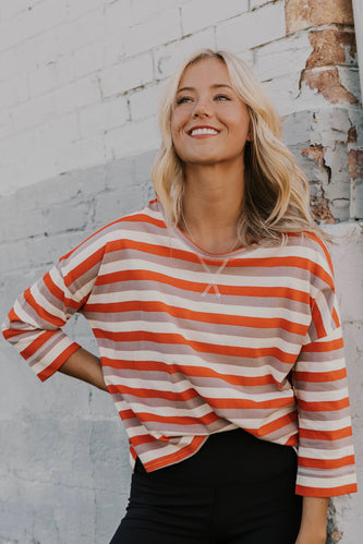 Loose Fitting Stripe Pullover | ROOLEE