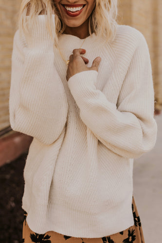 Cream Sweater | ROOLEE