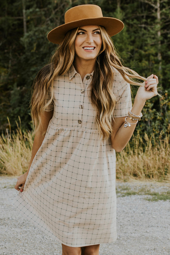 Mamie Plaid Dress | ROOLEE