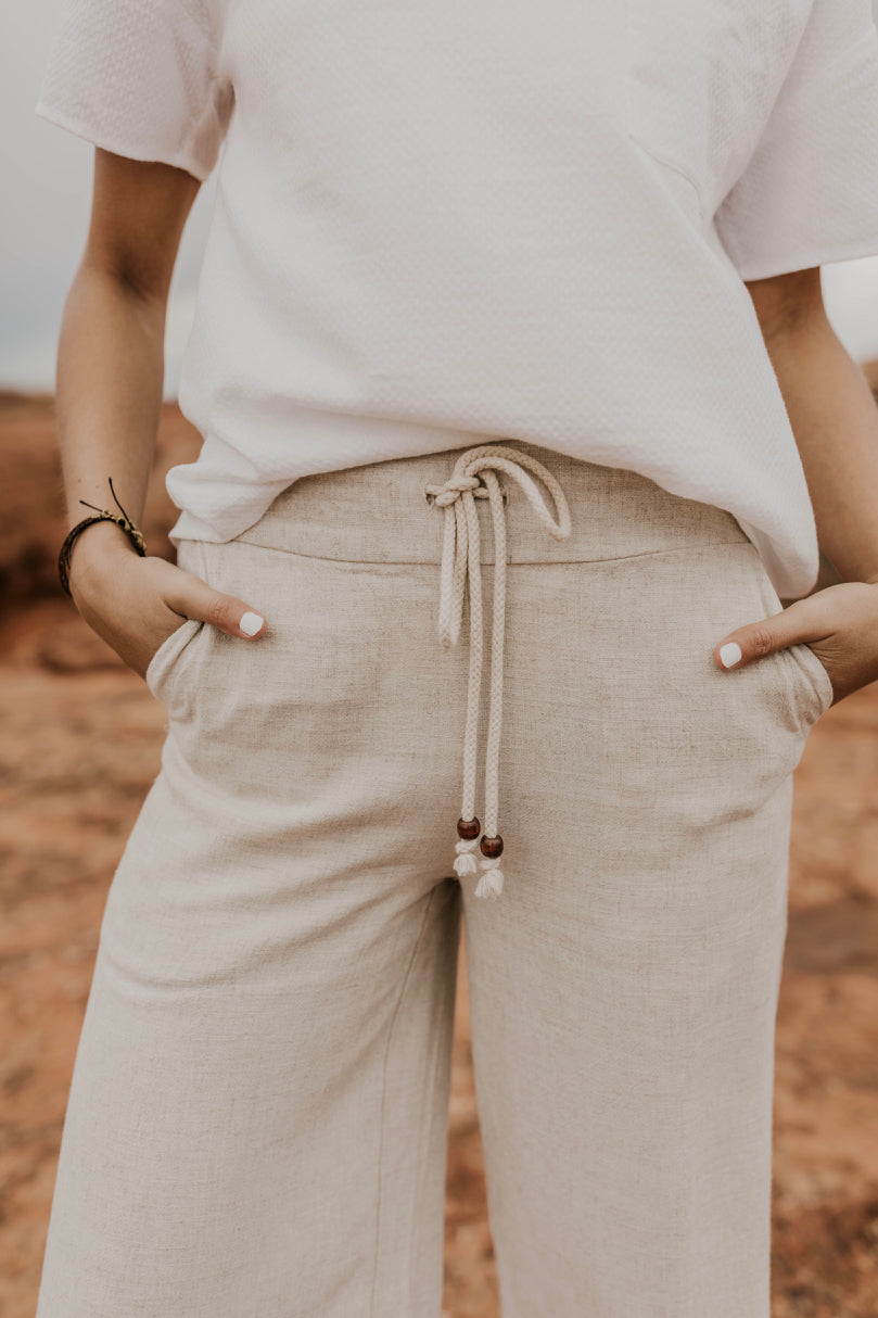 Womens Natural Pants | ROOLEE