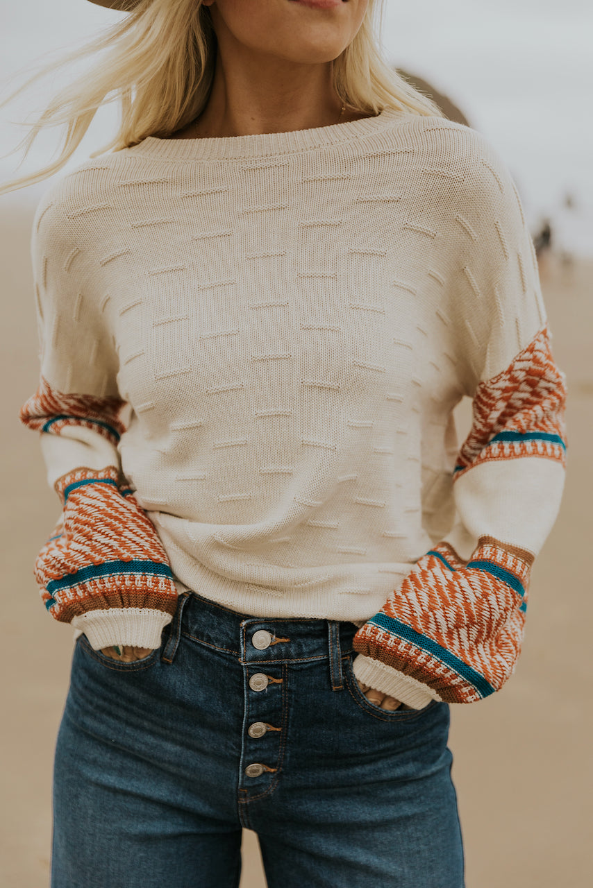 Textured knit color sweater | ROOLEE
