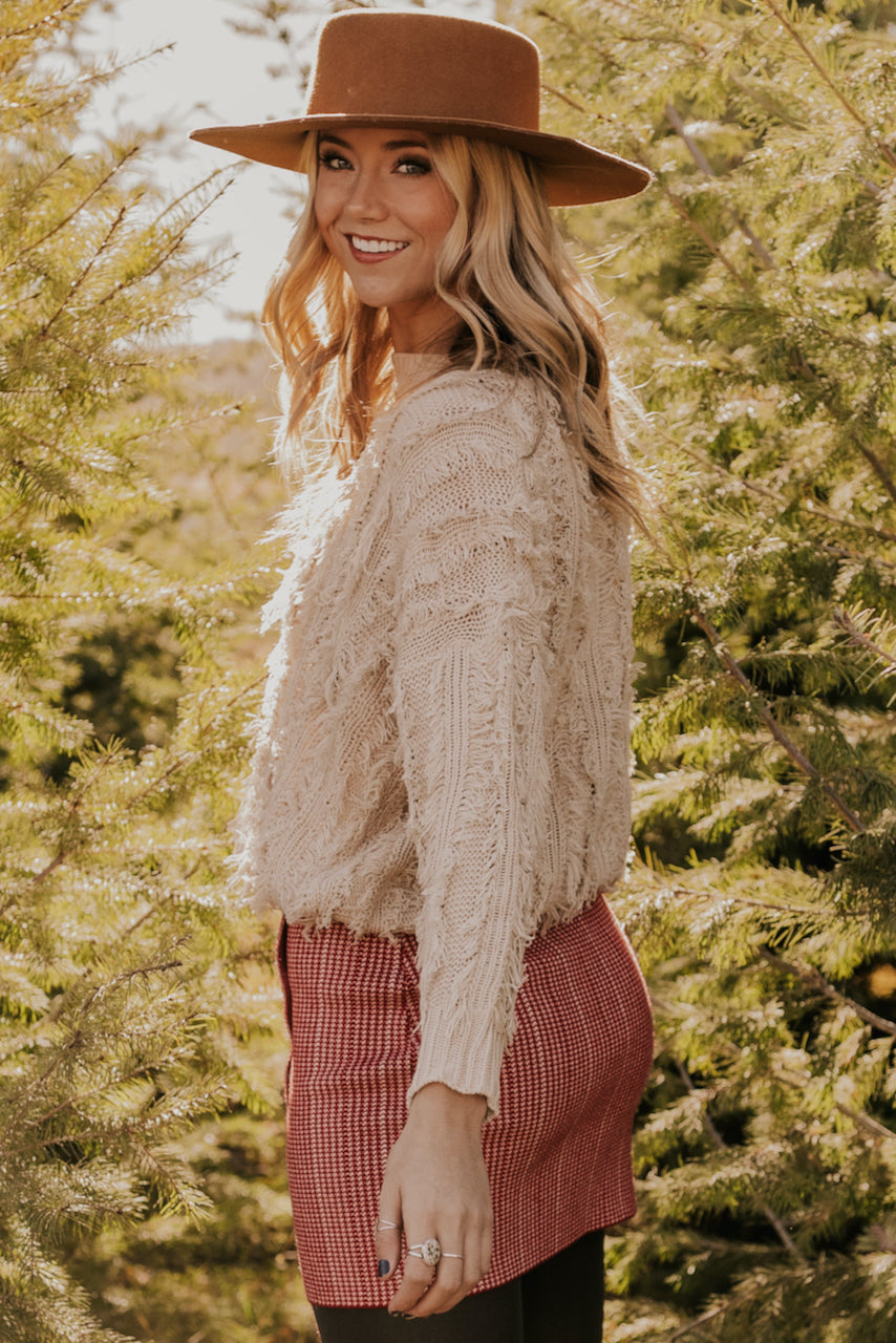 Fall Sweater Long Sleeve Taupe | ROOLEE