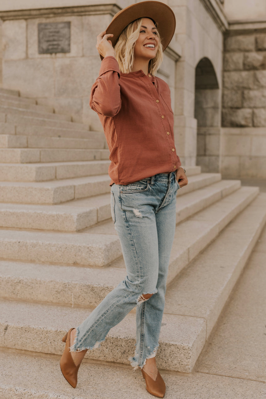 Rust Button Long Sleeve | ROOLEE