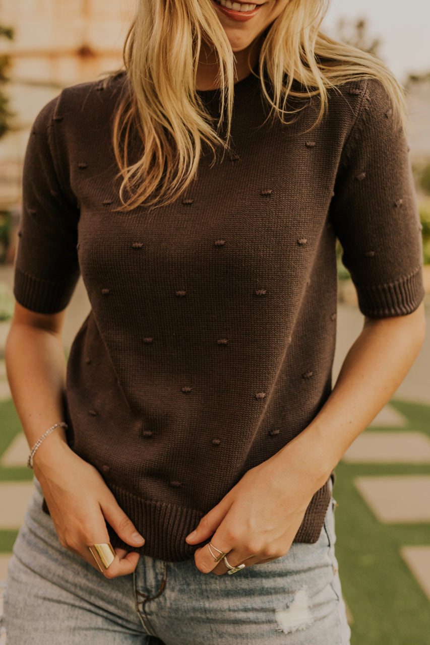 Knit Sweater Top for Fall | ROOLEE