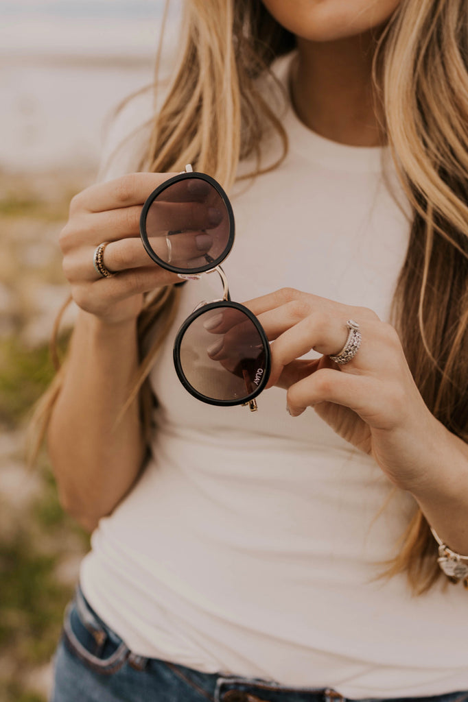 Cute Rounded frame Sunglasses | ROOLEE