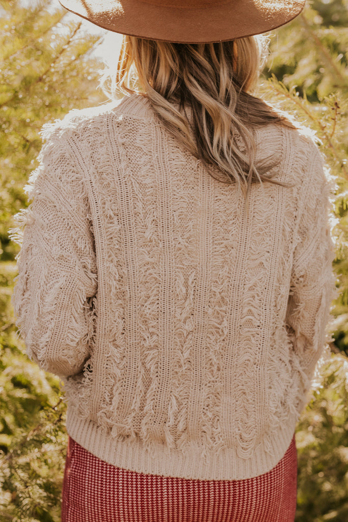 Holiday Neutral Shag Sweater | ROOLEE