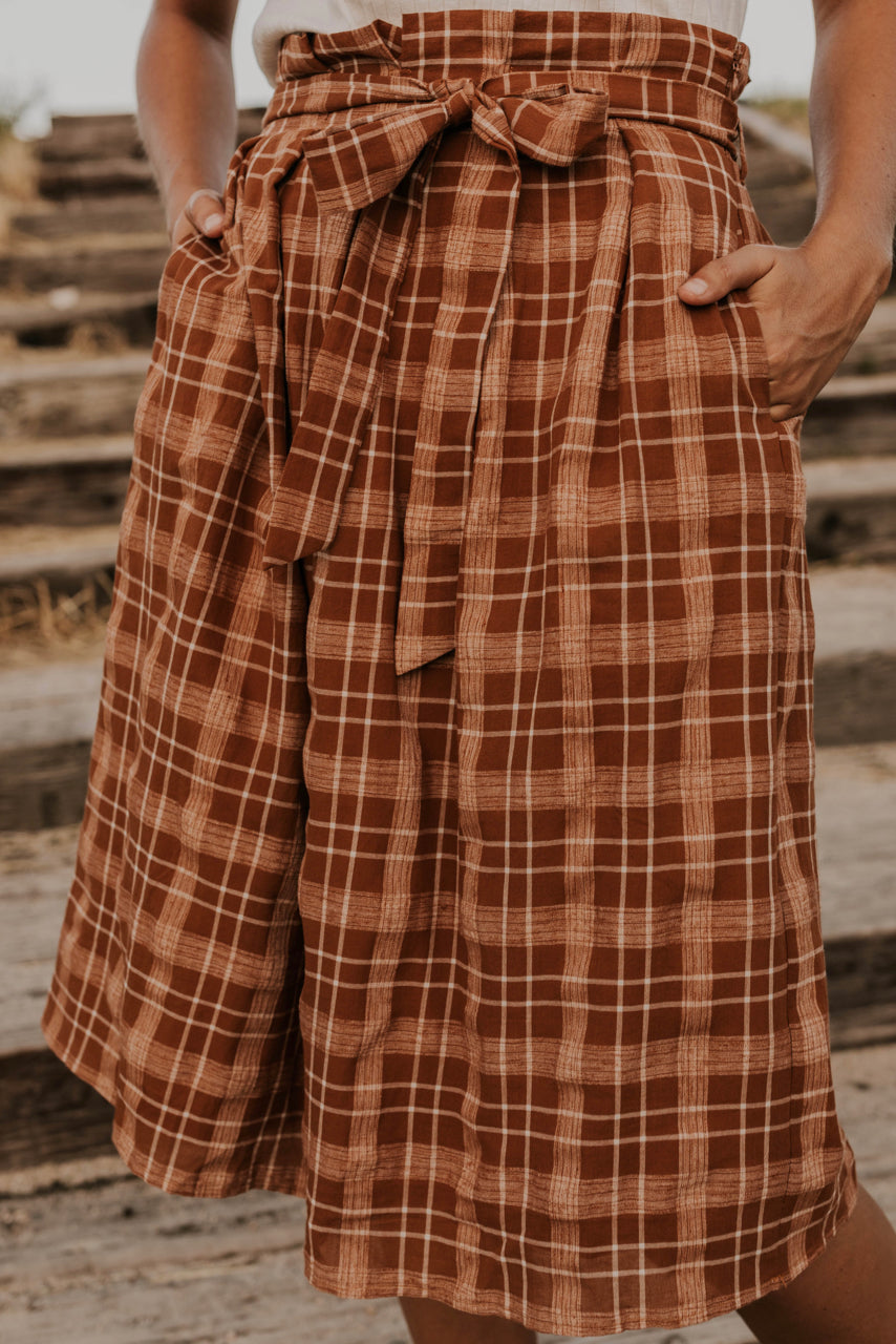 Pleated Plaid Midi | ROOLEE