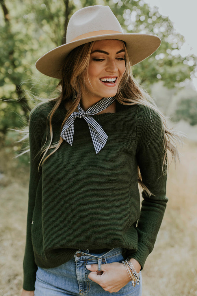 Ivy Knit Sweater in Olive | ROOLEE