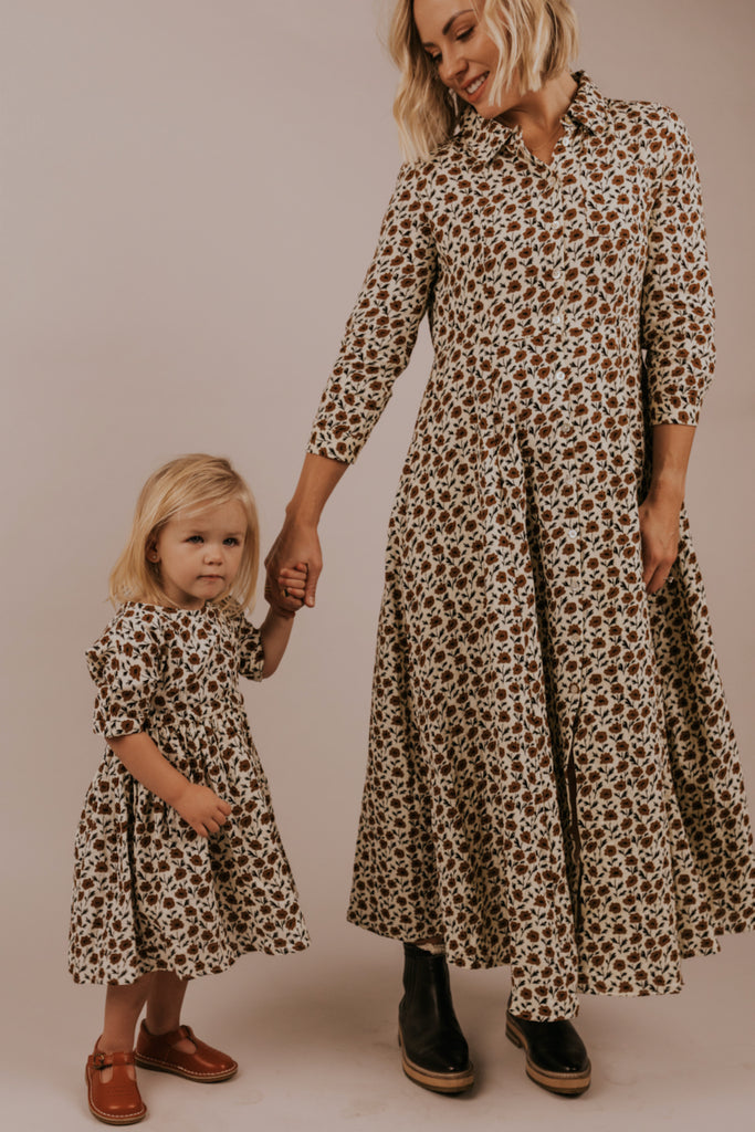 Floral Button Down Matching Dresses | ROOLEE
