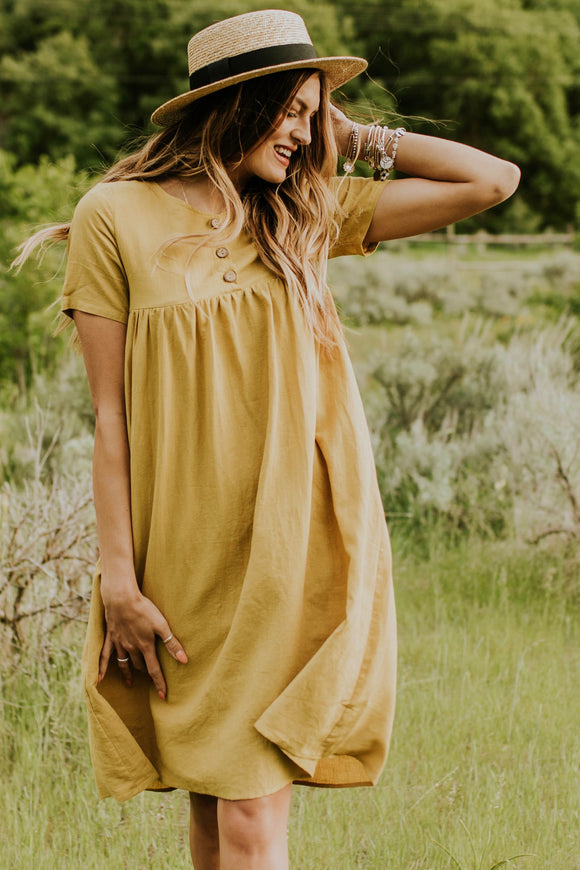 Petals Linen Dress | ROOLEE