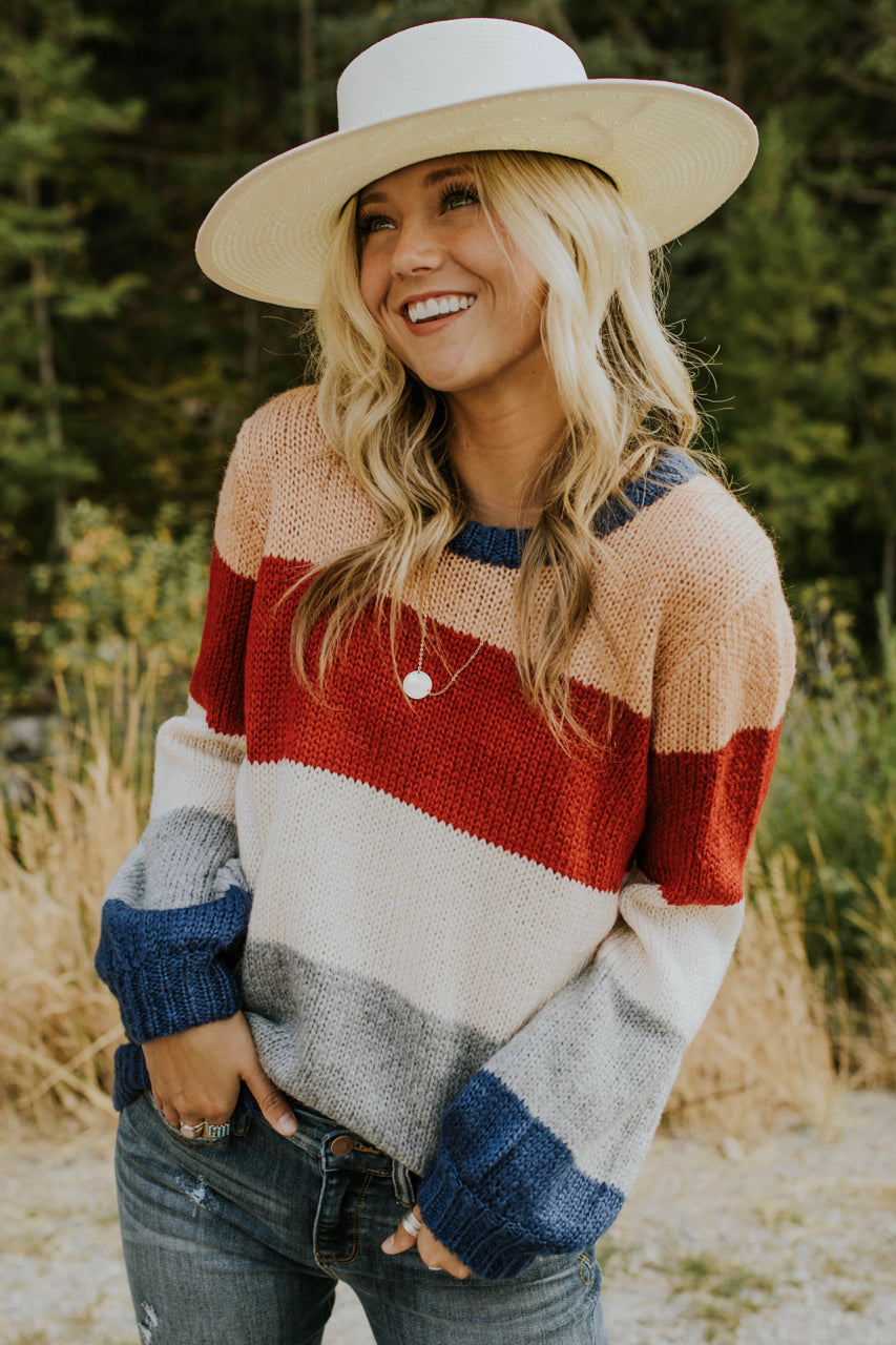 Autumn Air Stripe Sweater| ROOLEE