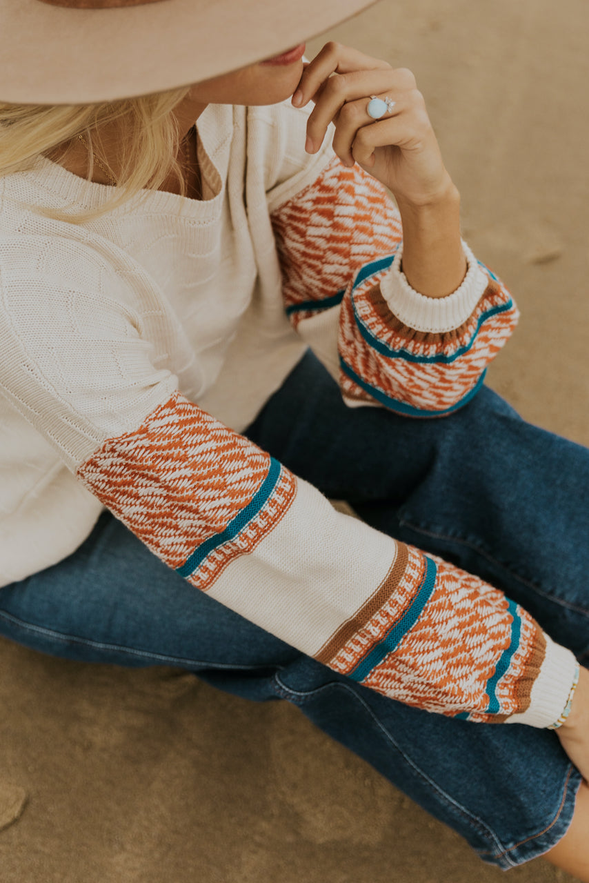 Cute color textured sweaters | ROOLEE