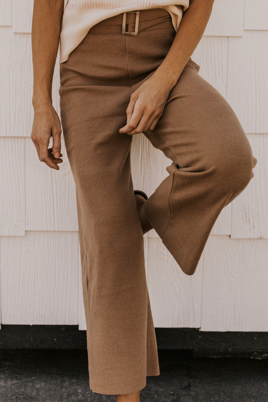 Knitted Pant with Belt | ROOLEE