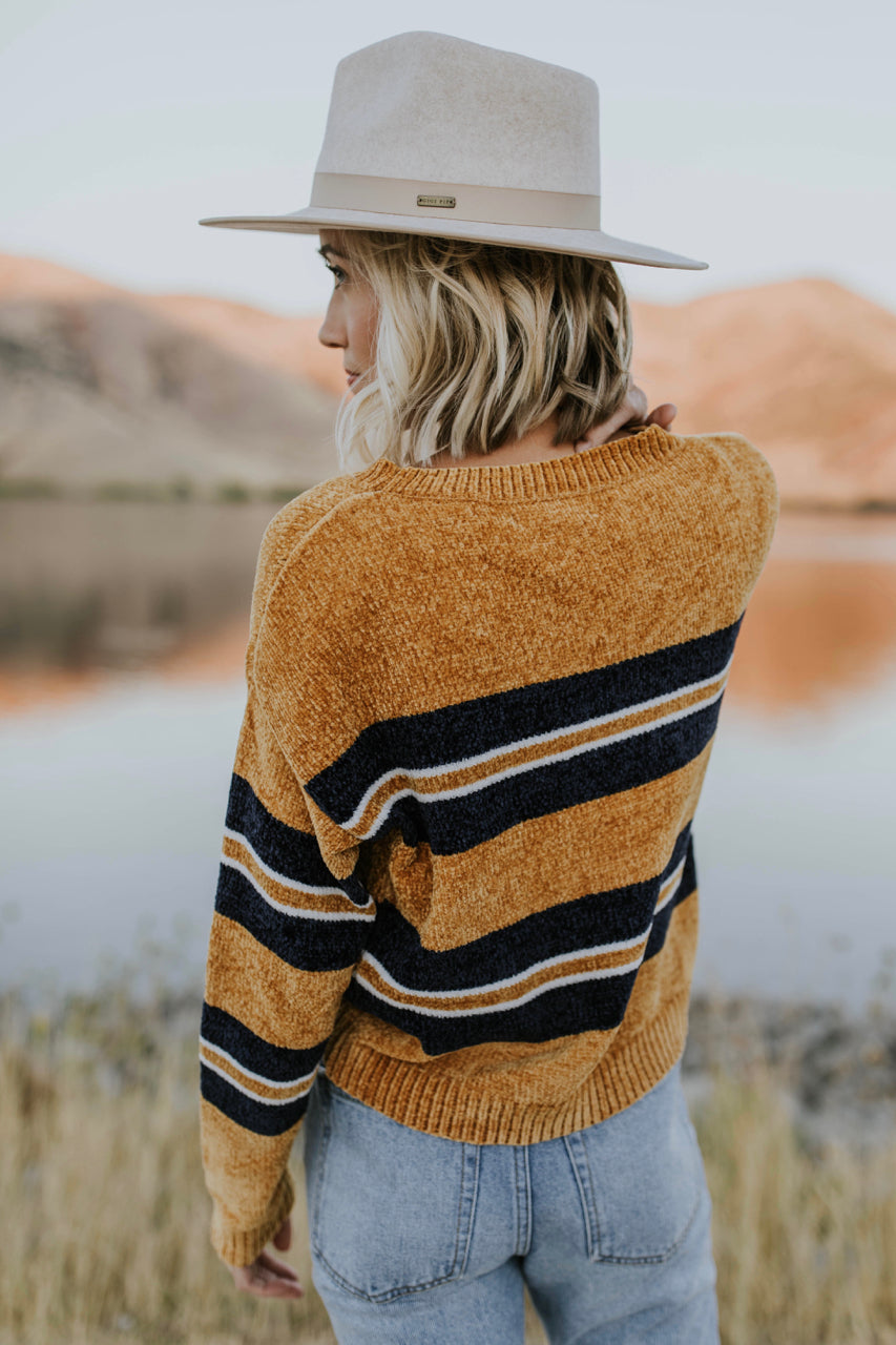 Snyder Stripe Sweater in Mustard | ROOLEE